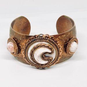Jewelry - Copper Tone Crescent Moon Vintage Cuff Bracelet